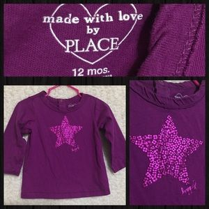 🔥5 for $10🔥 Children's Place L/S Shirt 12 MONTHS
